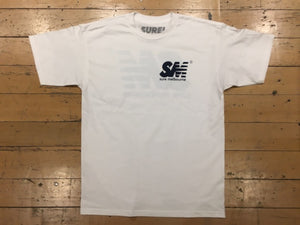 SM Logo T-Shirt - white/navy