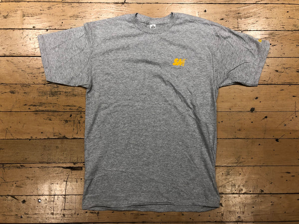 SM Logo Embroidered T-Shirt - grey/gold
