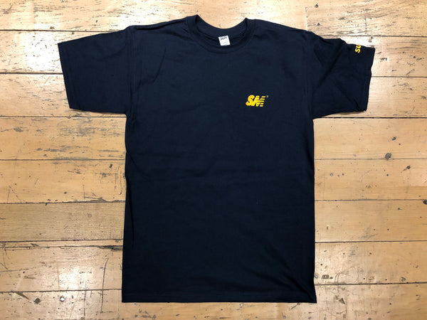 SM Logo Embroidered T-shirt - navy/gold