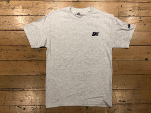 SM Logo Embroidered T-Shirt - ash/navy