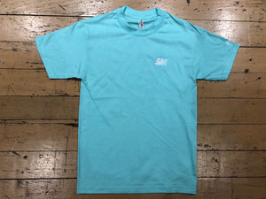 SM Logo Embroidered T-Shirt - celadon/white
