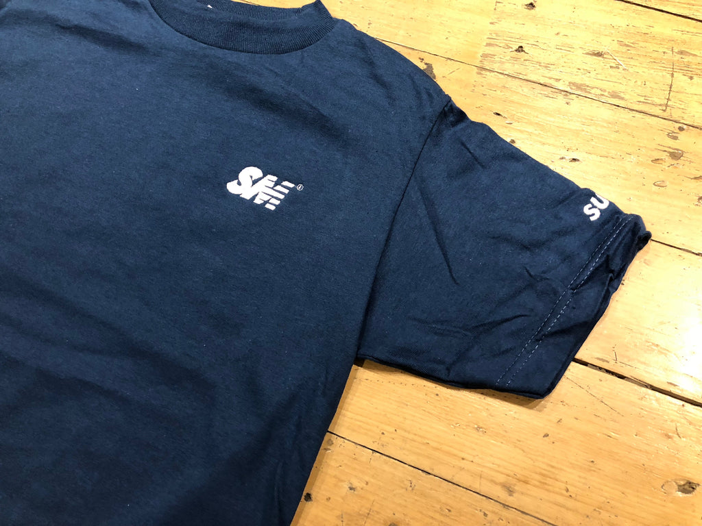 SM Logo Embroidered T-Shirt - harbour blue/white
