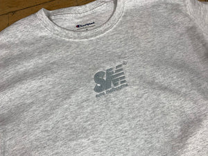 SM Champion Chest Embroid T-Shirt - Ash