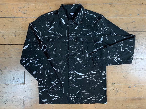 Crushed Paper Unlined Jacket - Black