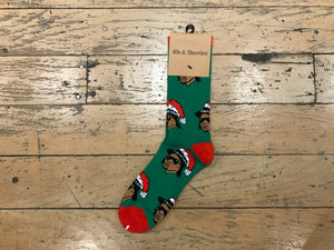 Eazy Claus Sock - Green/Red