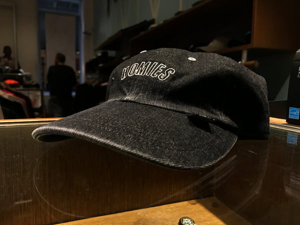 Arc Logo Washed Denim Cap - Black