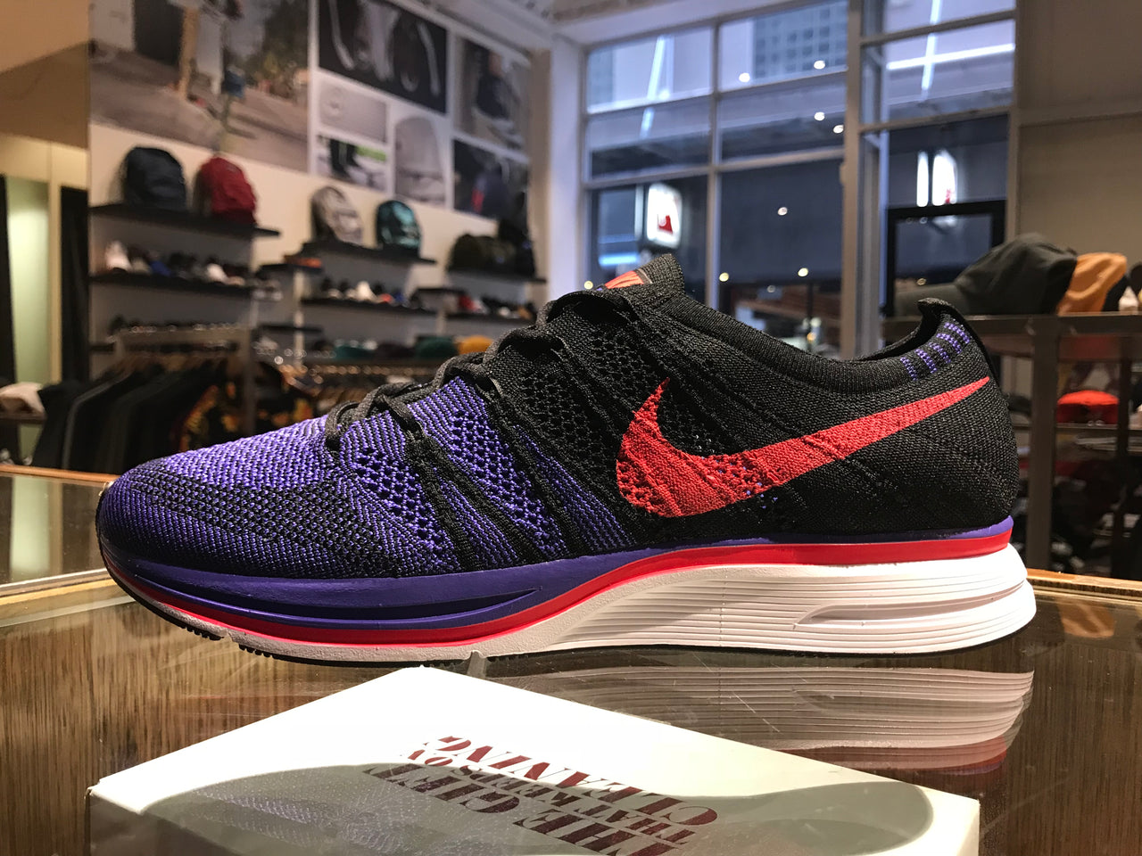 Nike Flyknit Trainer - Black/Siren/Red – THE SURE STORE
