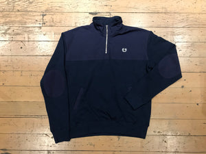 Crest Quarter Zip Crew - Navy