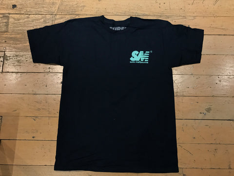 SM Mesh Logo T-Shirt - Navy/Tiffany