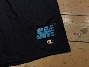 SM Logo Champion Mesh Shorts - Navy/Tiffany