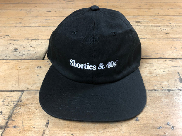 Reverse Text Logo Hat - Black