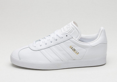 Gazelle Sneakers- white/gold