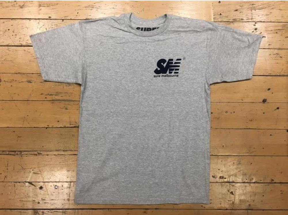 SM Logo T-Shirt - Grey / Navy
