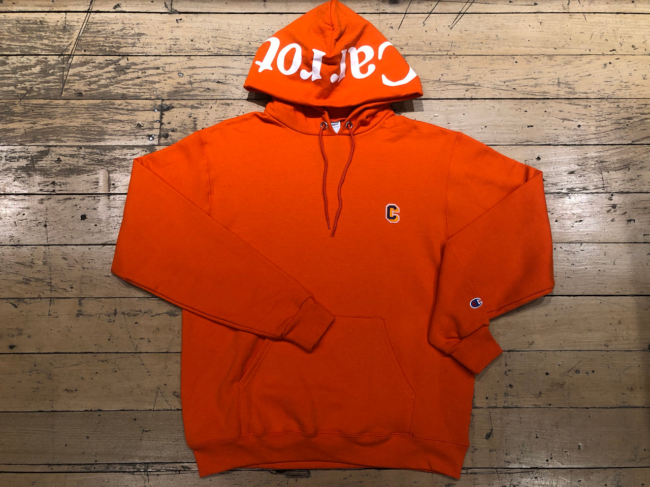 Champion Block C Hoodie - Orange