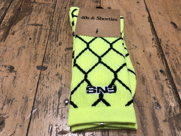 Chain Link Socks - Safety Green