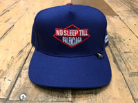 No Sleep Snapback Cap - Royal
