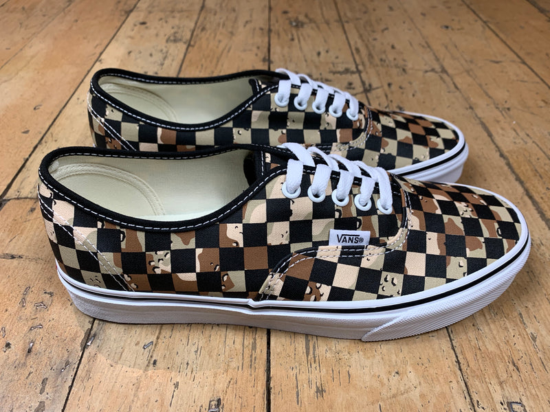 Authentic Checkerboard - Camo Desert/True White