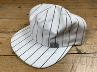 Stripe Snapback - White