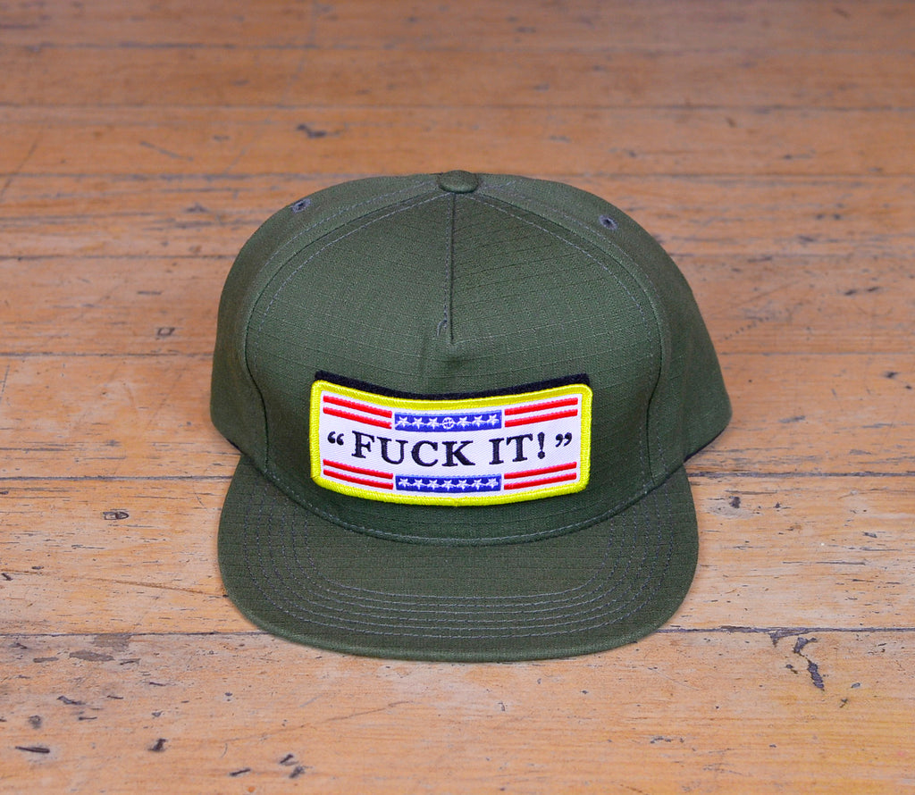 Fuck It Velcro Patch Snapback - Army Green