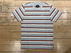 Off Shore Stripe Tee - Sky Blue