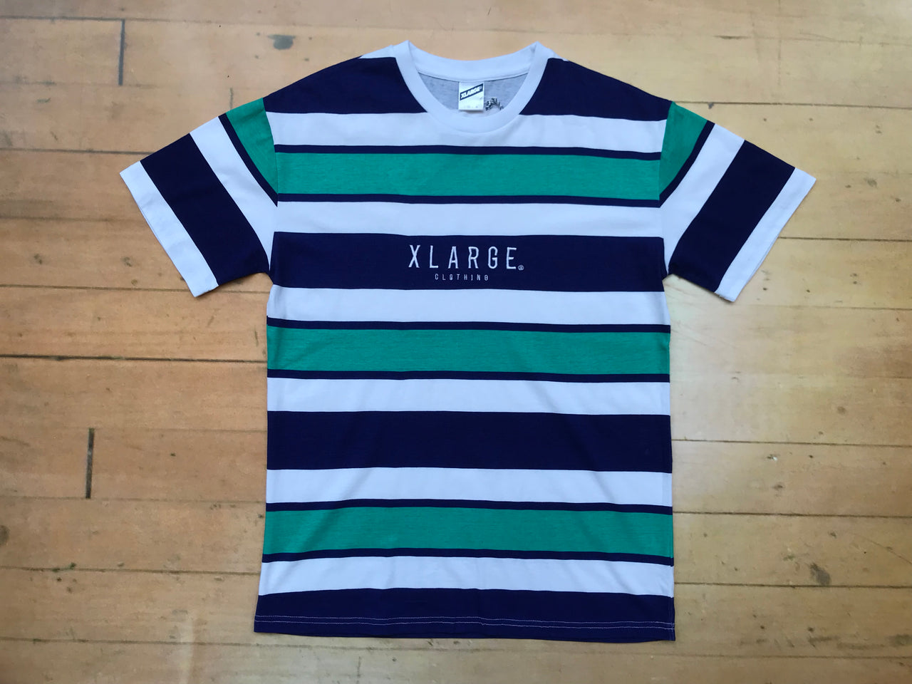 Who Stripe T-Shirt - Teal/Navy