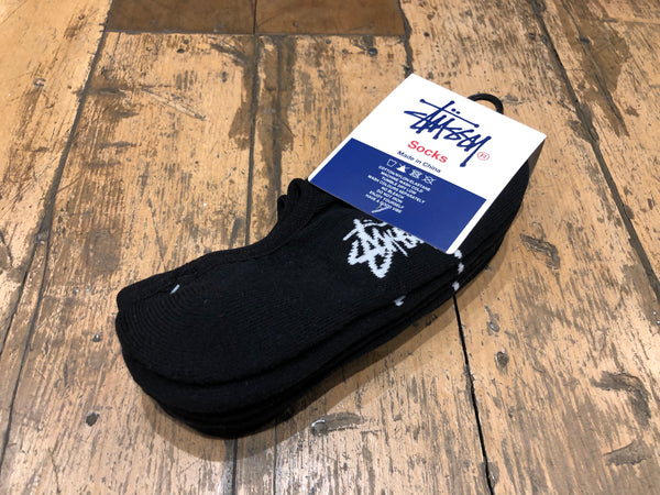 Stock No Show Socks - black 3pk
