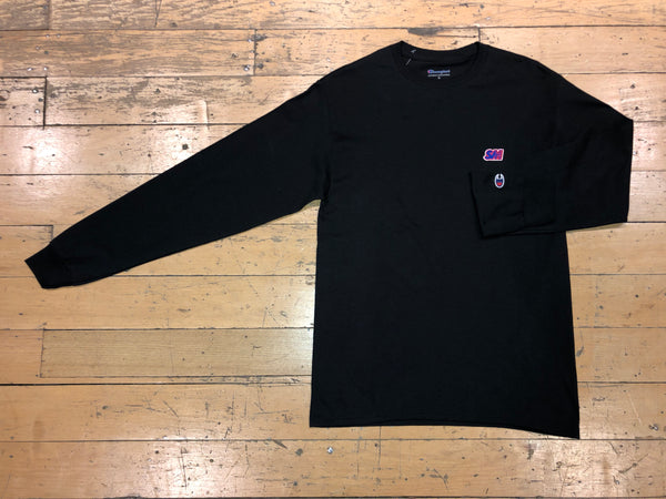 Champion SM Embroid LS - Black