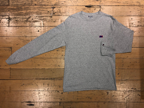 Champion SM Embroid LS - Athletic Heather