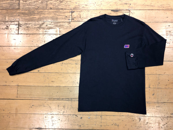 Champion SM Embroid LS - Navy