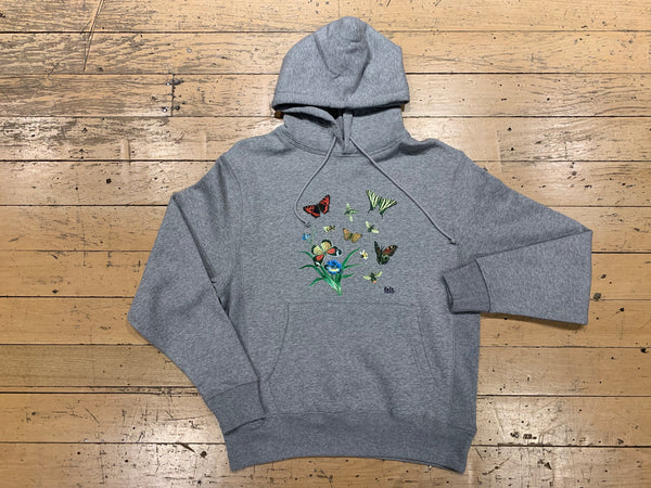 Butterflies and Bees Sweatshirt - Heather Grey