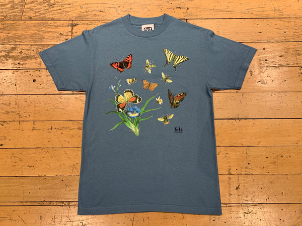 Butterflies and Bees T-Shirt - Slate