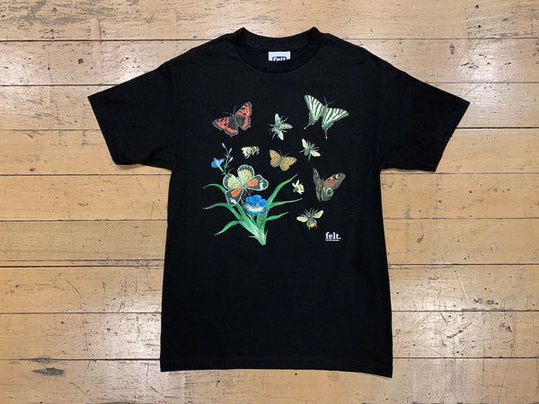 Butterflies and Bees T-Shirt - Black