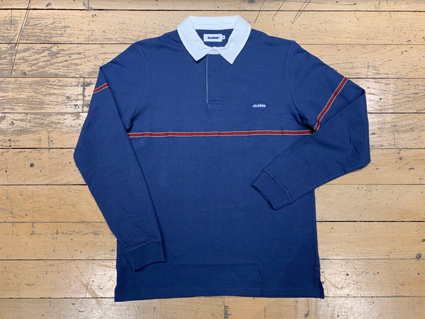 Striped Rugby Shirt - Navy