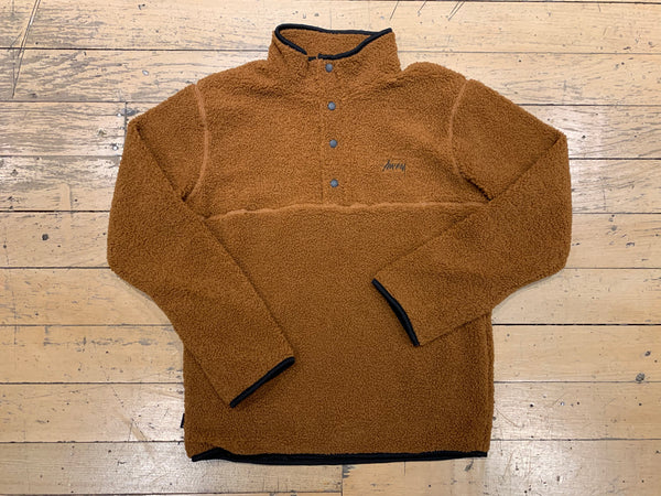 Stock Sherpa Button Crew - Brown