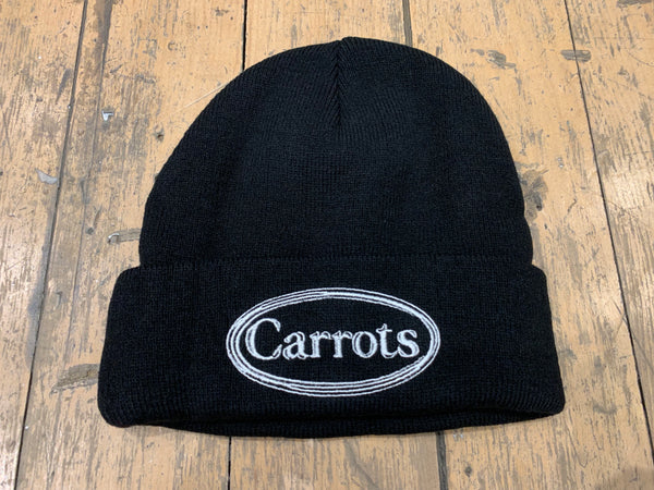 Oval Wordmark Knit Beanie - Black