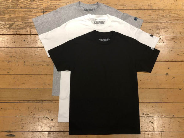 SM Sleeve Logo T-Shirt (3pk) - White/Heather/Black