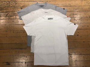SM Mini Logo Sleeve T-Shirt (3pk) - White/Ash/Heather