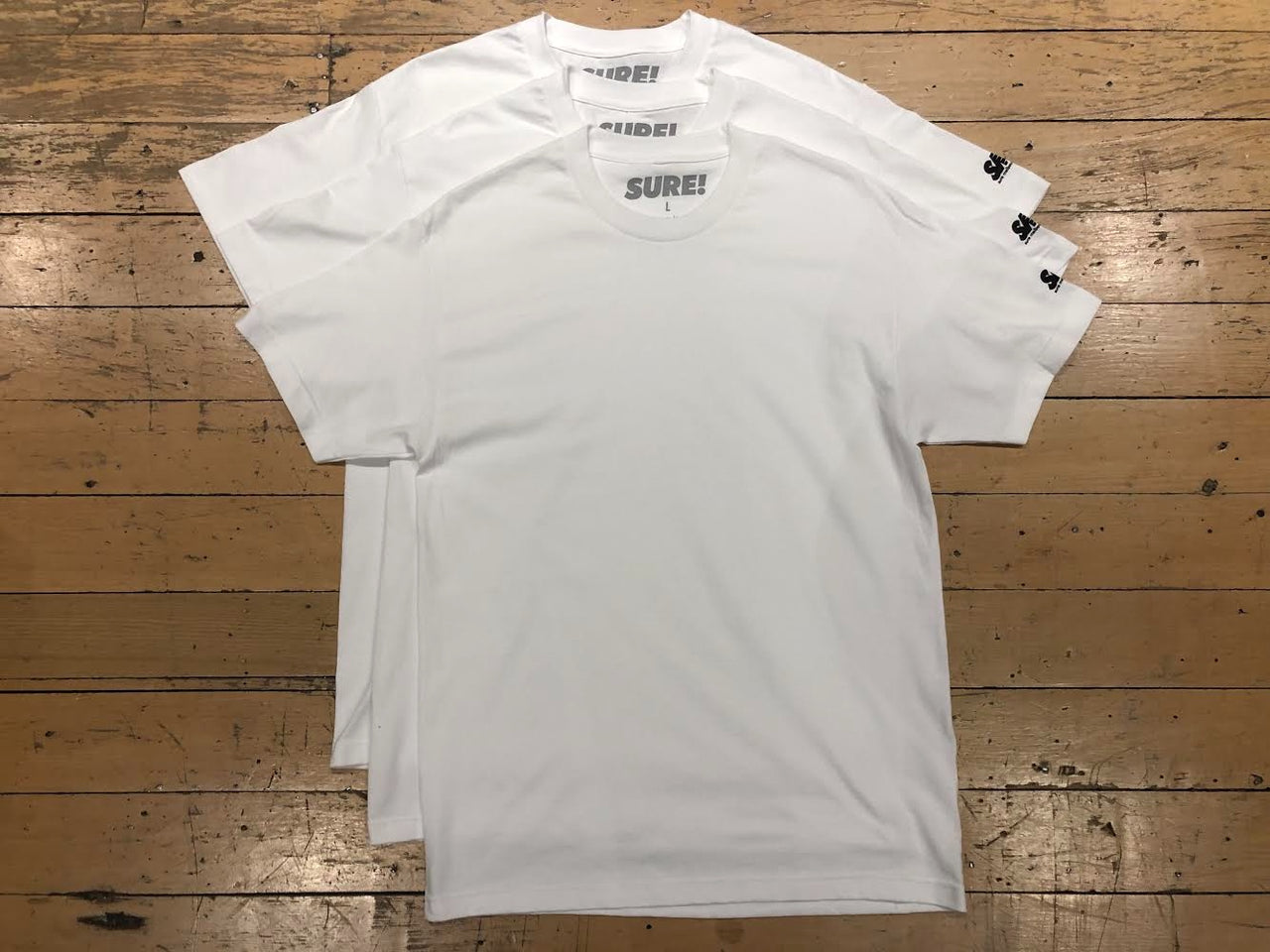 SM Sleeve Logo T-Shirt (3pk) - White