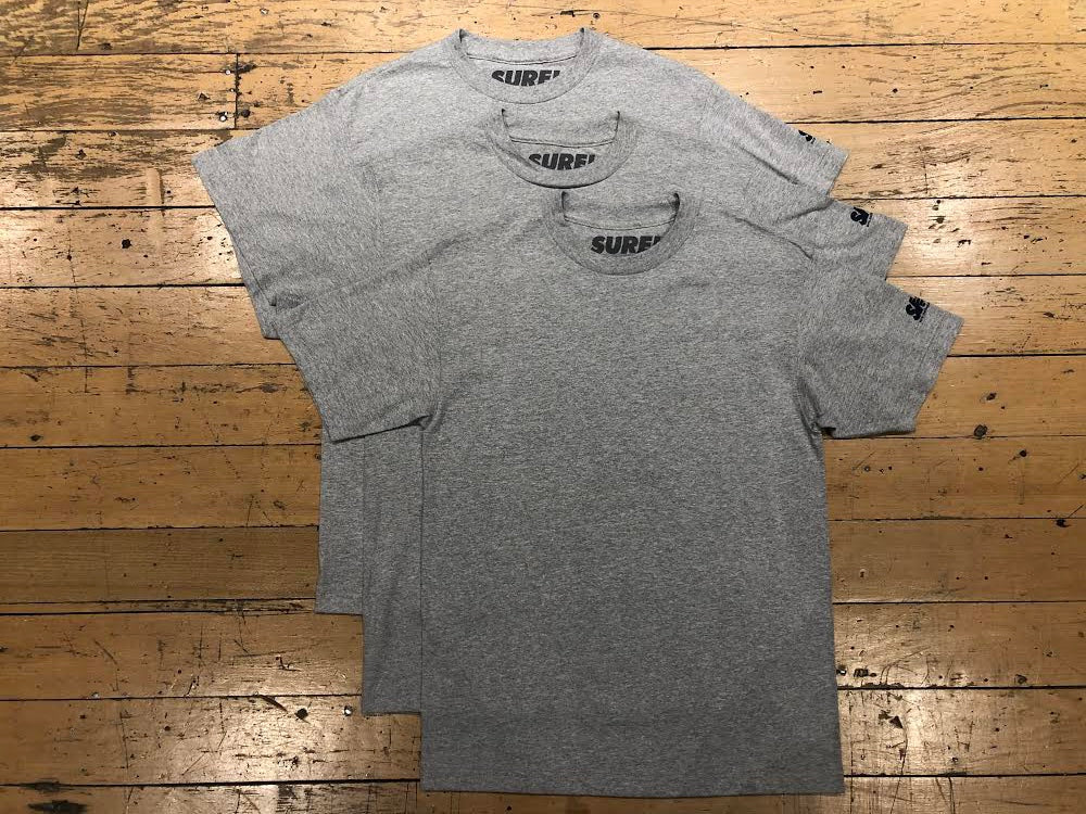 SM Mini Logo Sleeve T-Shirt (3pk) - Heather Grey