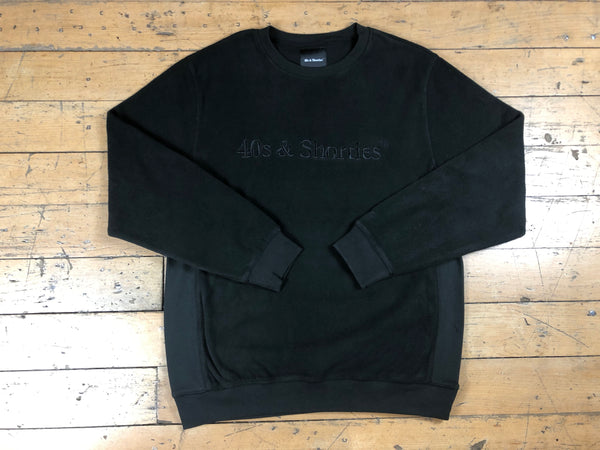 Text Logo Crewneck Sweater - Black