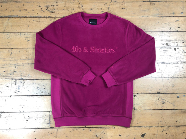 Text Logo Crew Sweater - Berry