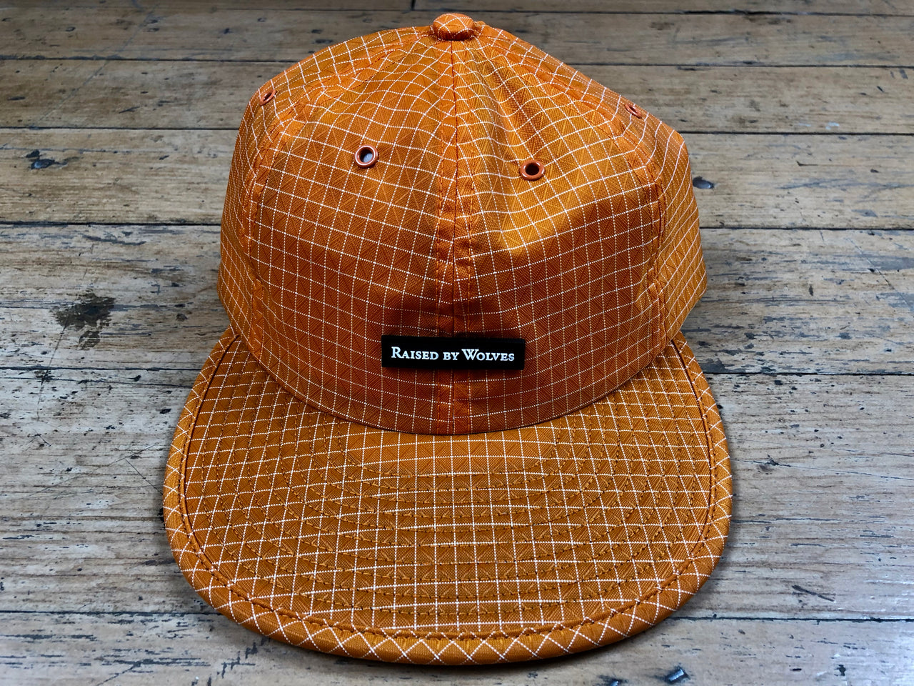 Gridstop 6 Panel Cap - Orange