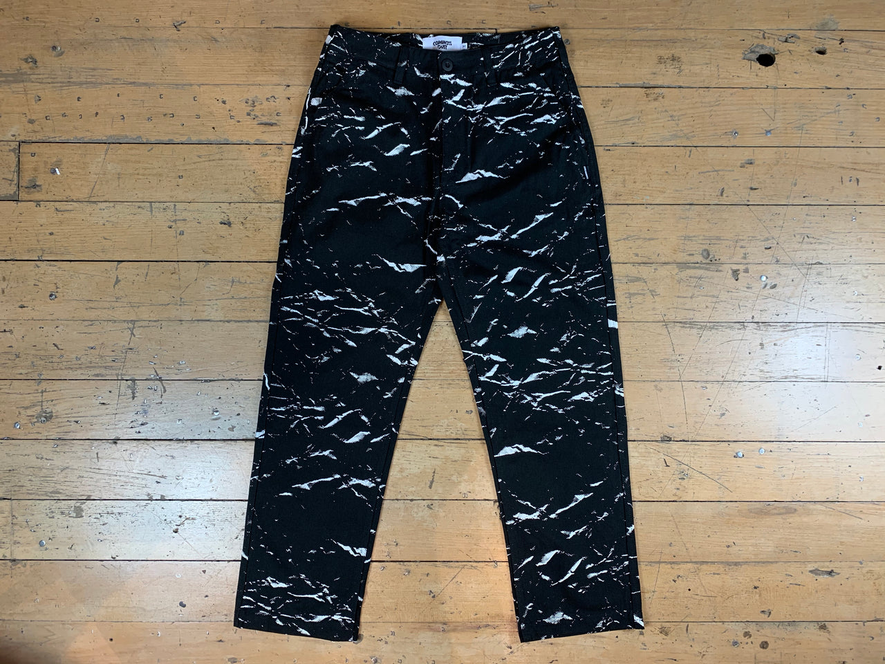Crushed Paper Work Pant - Black
