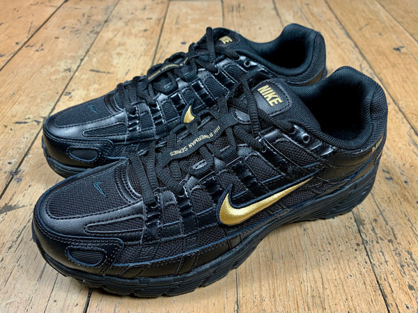 Women's Size 7 & 8 HALF PRICE Nike P-6000 ESS - Black/Metallic Gold/Off Noir