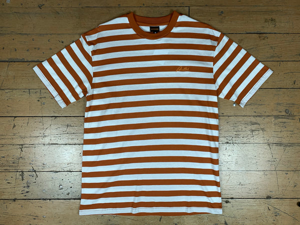 Hume Stripe T-Shirt - Brown
