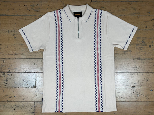 Vito Zip Polo Shirt - Bone