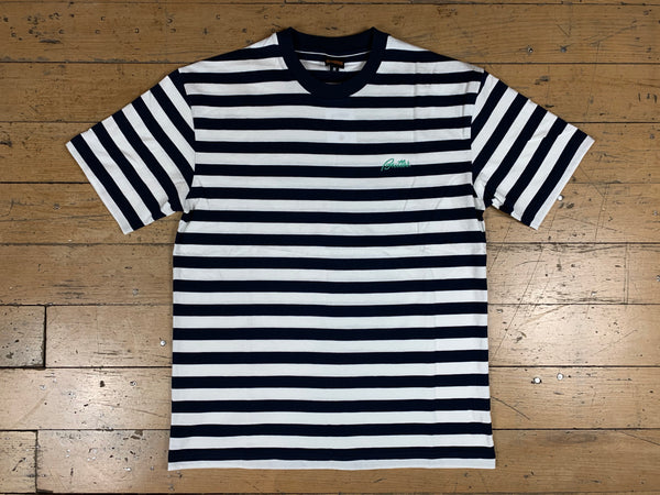 Hume Stripe T-Shirt - Navy