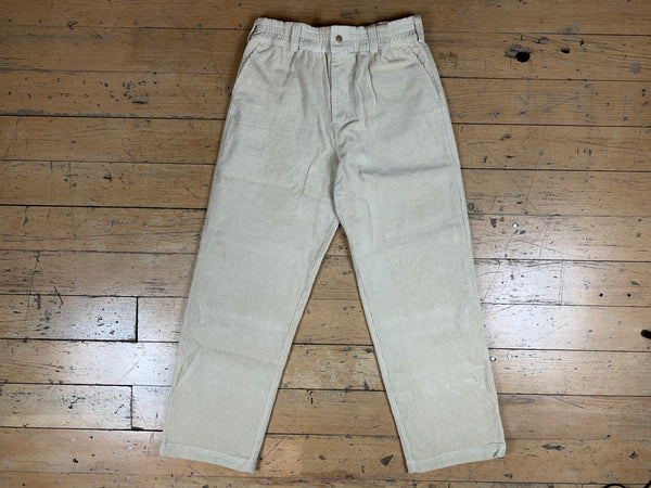 High Wale Corduroy Pants - Bone
