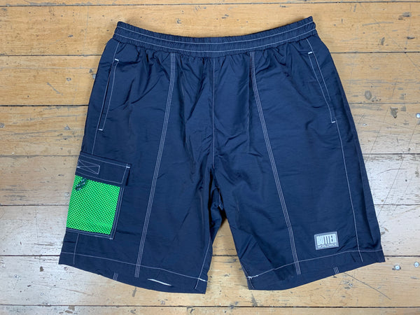 Scout Shorts - Navy/Lime