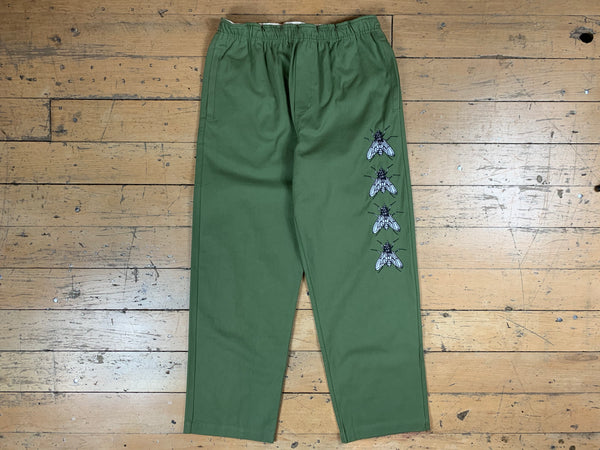Swarm Embroidered Pants - Army